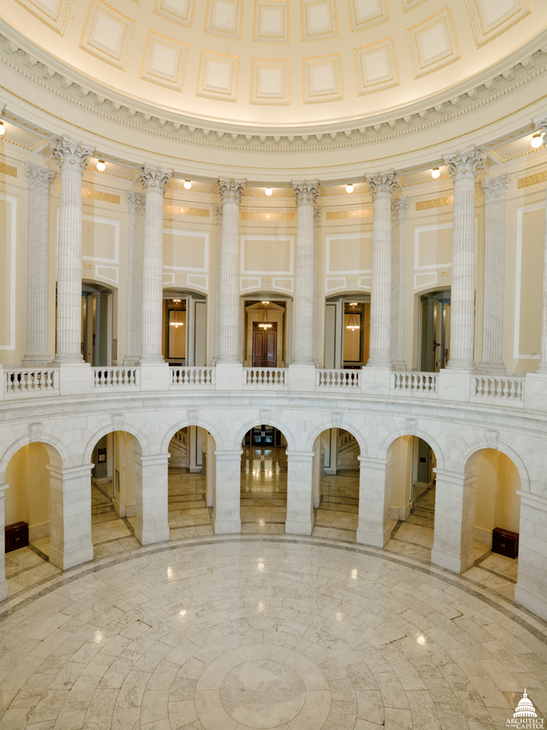 Photo of the Cannon Building rotunda.