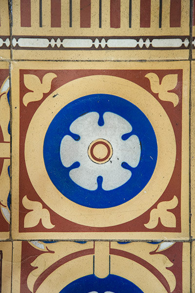 An example of inlaid encaustic tiles, or Minton tiles, used in the flooring of the U.S. Capitol.