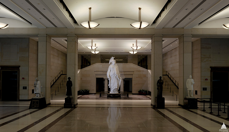 Plaster model of the Statue of Freedom in the United States Capitol Visitor Center.