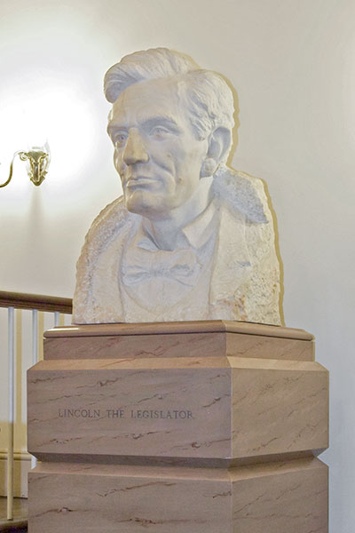 "The bust ""Abraham Lincoln the Legislator"" by Avard Fairbanks in the U.S. Capitol."