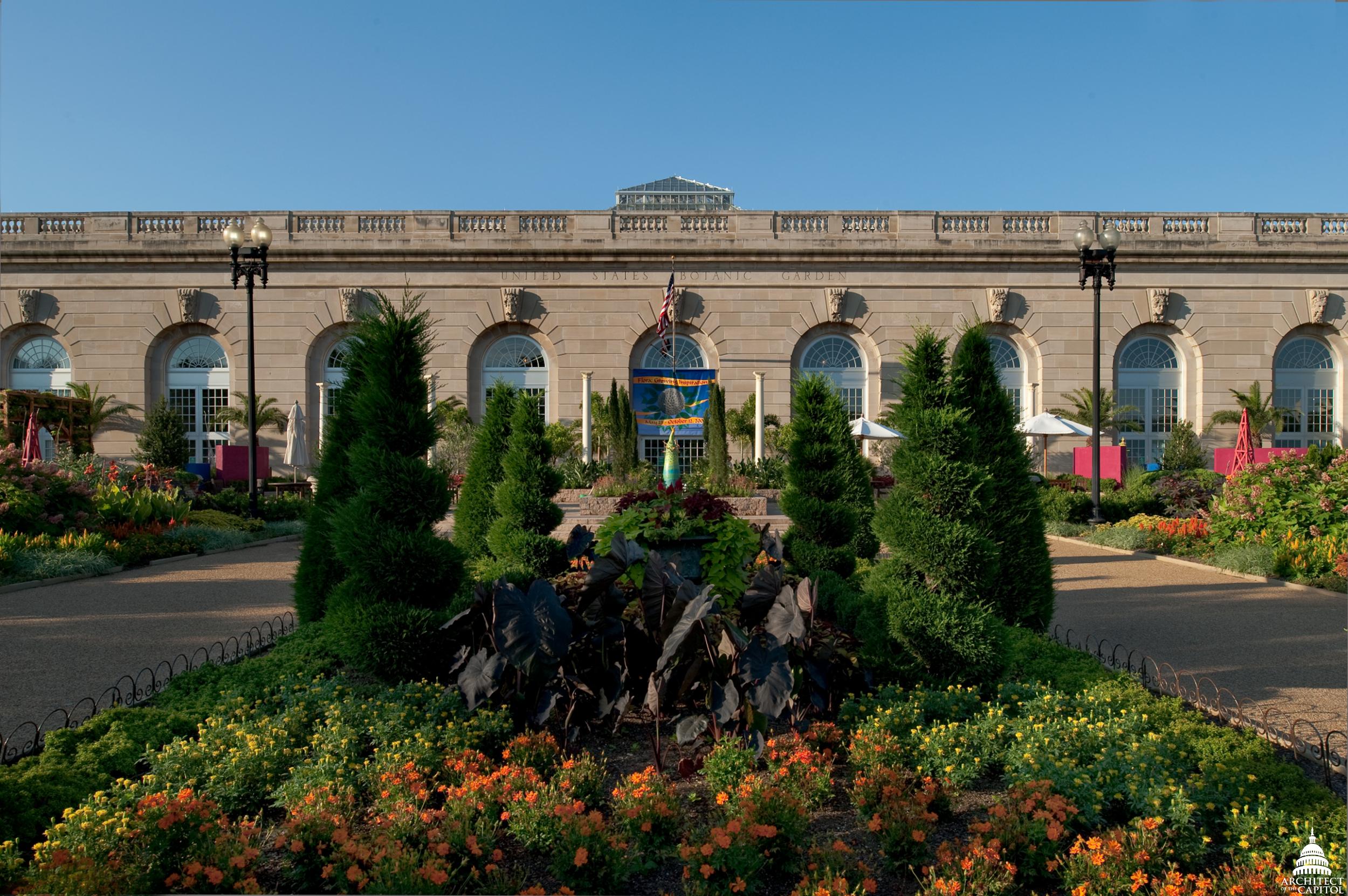 US Botanic Garden Conservatory Architect Of The Capitol - Us botanic garden map