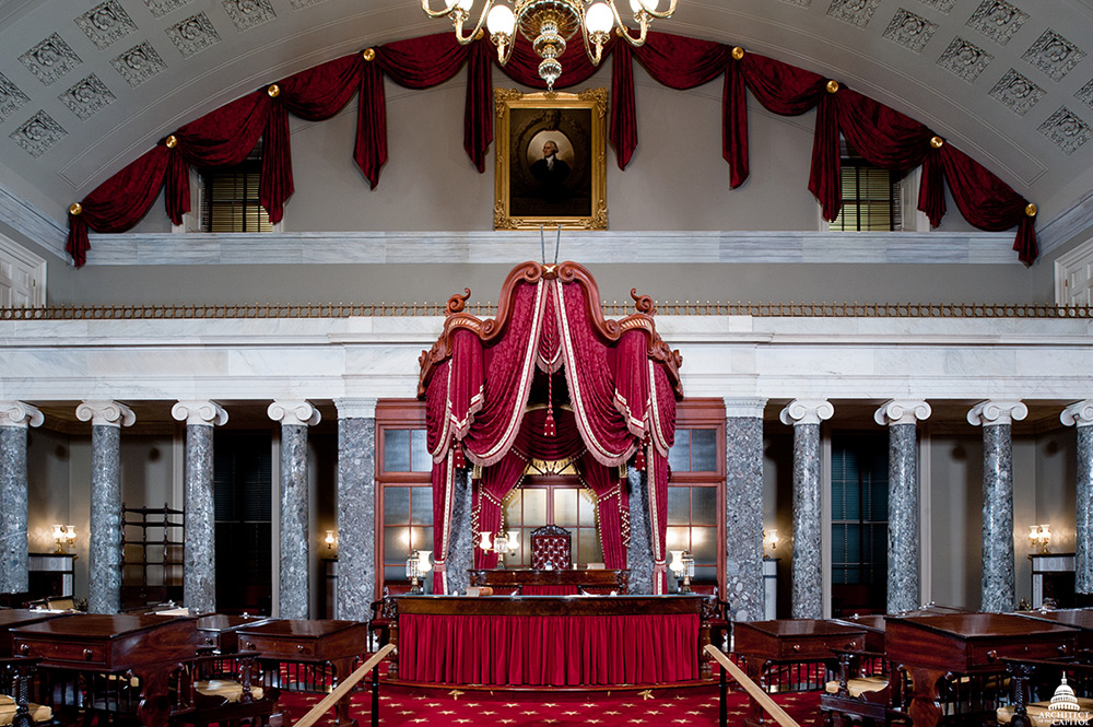 Old Senate Chamber after restoration in 2012.