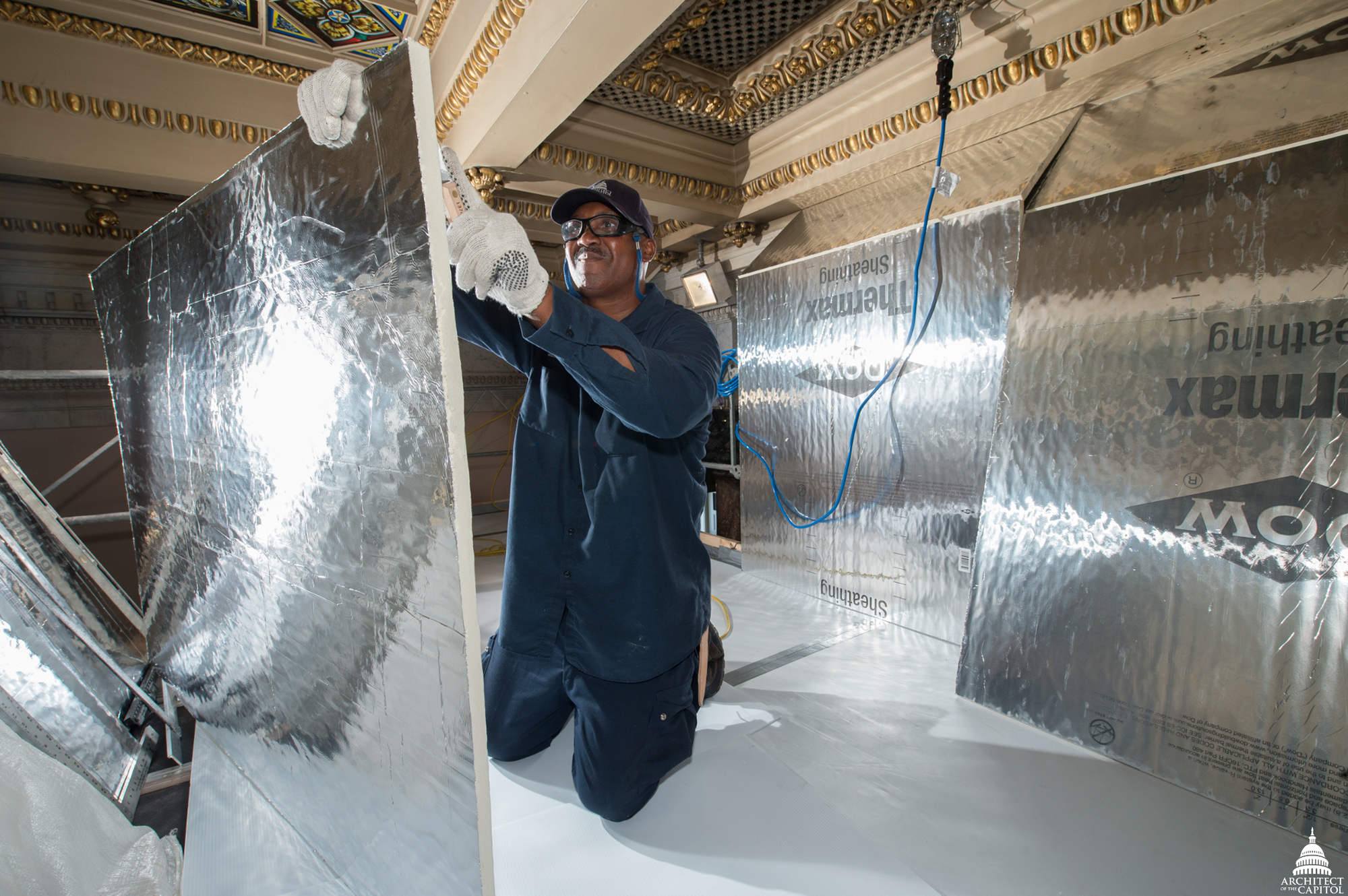 AOC's Larry Thompson, part of the Capitol Building's Insulation Division.