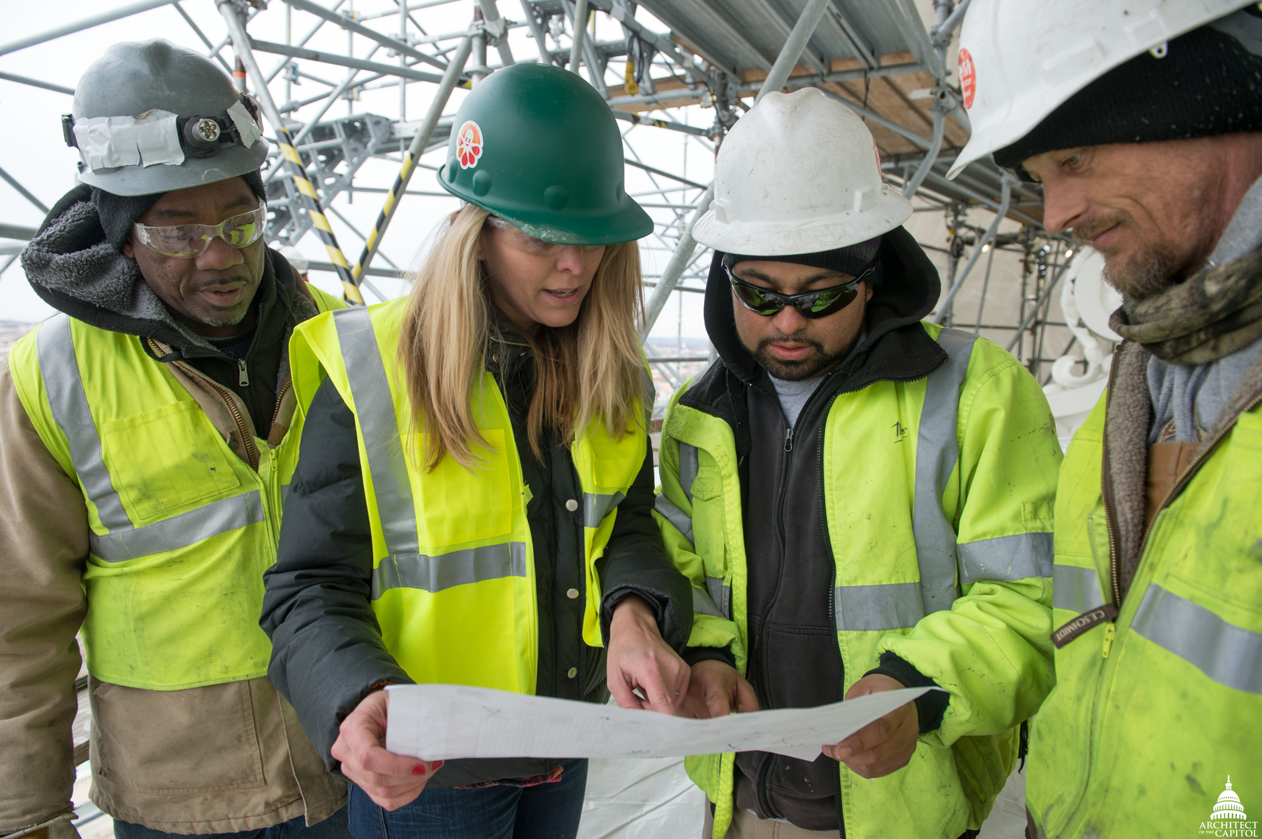 Women are integral members of the Dome Restoration Project