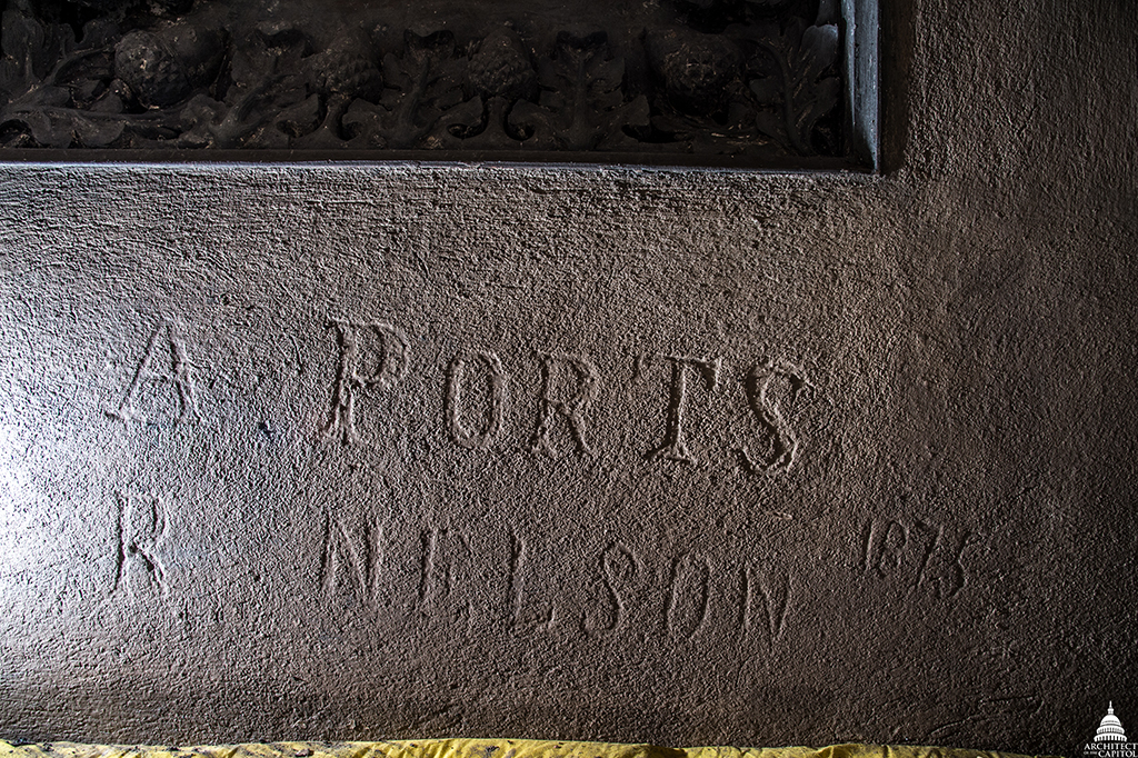 Ports' name was found etched into a cast iron coffer during the current Capitol Dome Restoration Project.