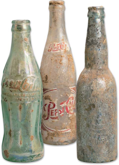 Bottles found during Phase 1 of the Cannon House Office Building renewal project.