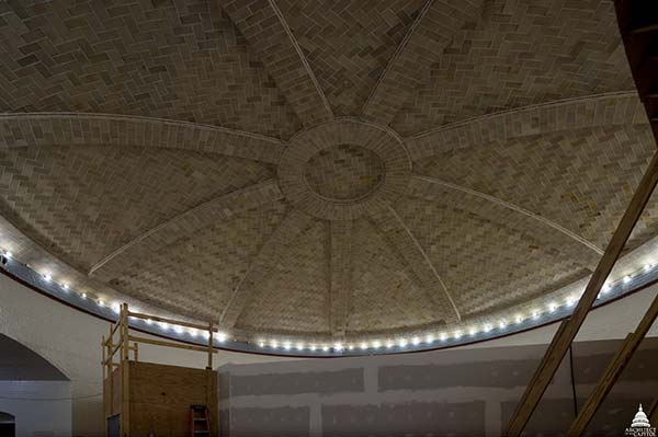 The historic character of the Guastavino rotunda dome has been preserved for future generations.