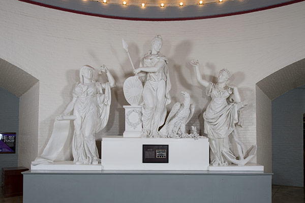 Plaster model of Genius of America pediment in the Cannon House Office Building.