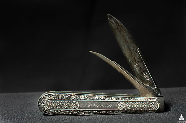 This pocket knife once belonged to Constantino Brumidi.