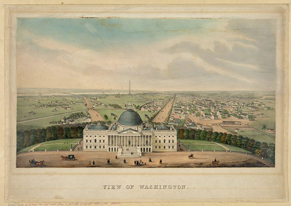 Smith, R. P. (ca. 1850) View of Washington. [Photograph] Retrieved from the Library of Congress, https://www.loc.gov/item/2006677489/.