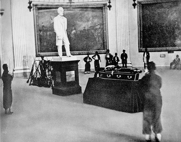 Funeral of Thaddeus Stevens in the U.S. Capitol Rotunda.