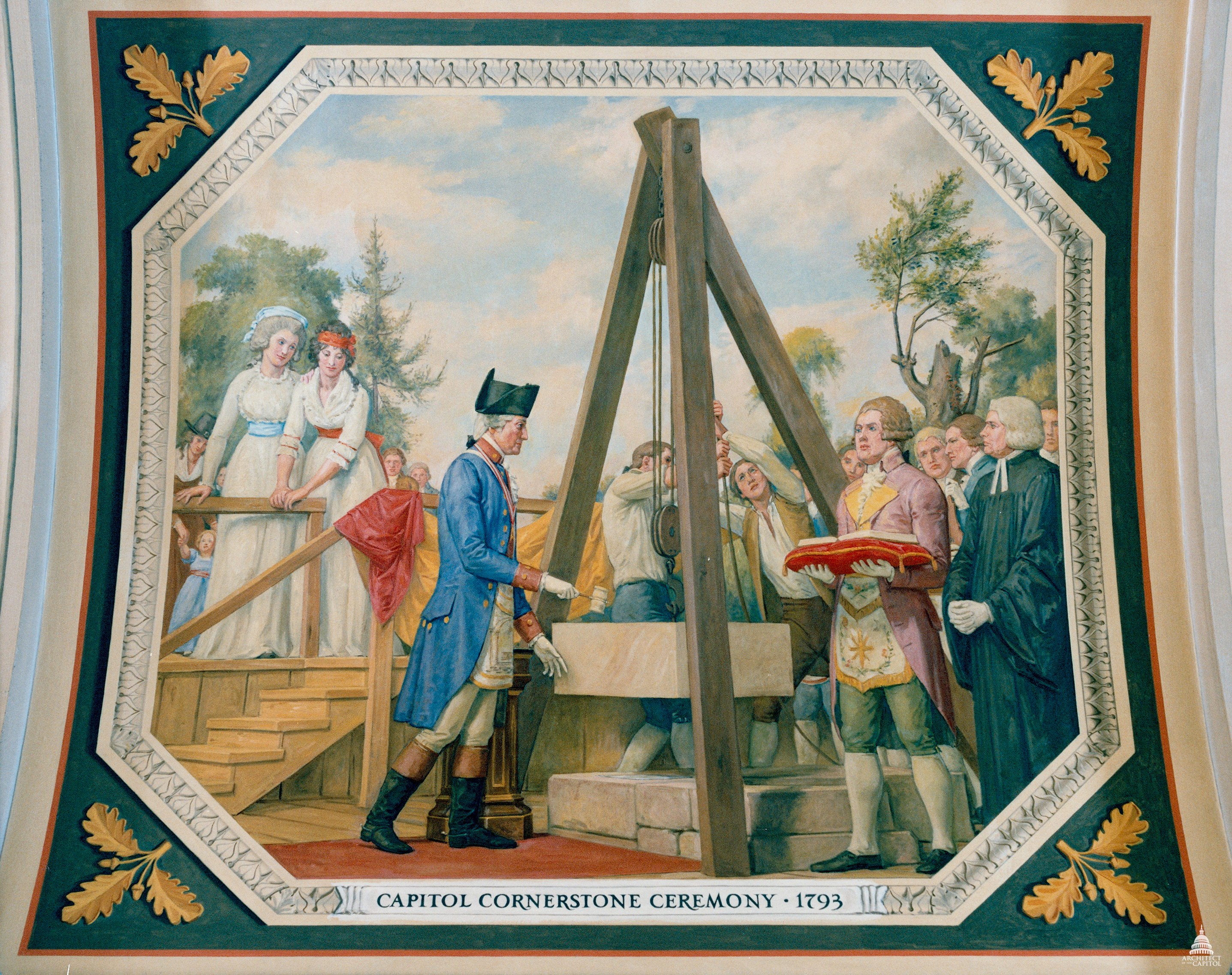 The First Cornerstone Architect Of The Capitol United States - Map of us when george washington was president