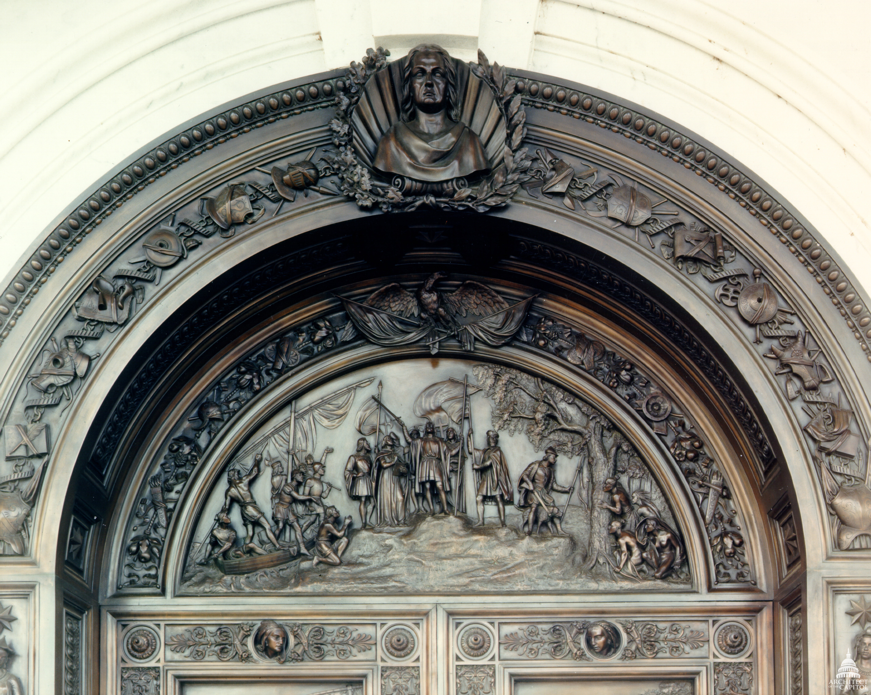 Tympanum & The Columbus Doors | Architect of the Capitol | United States Capitol