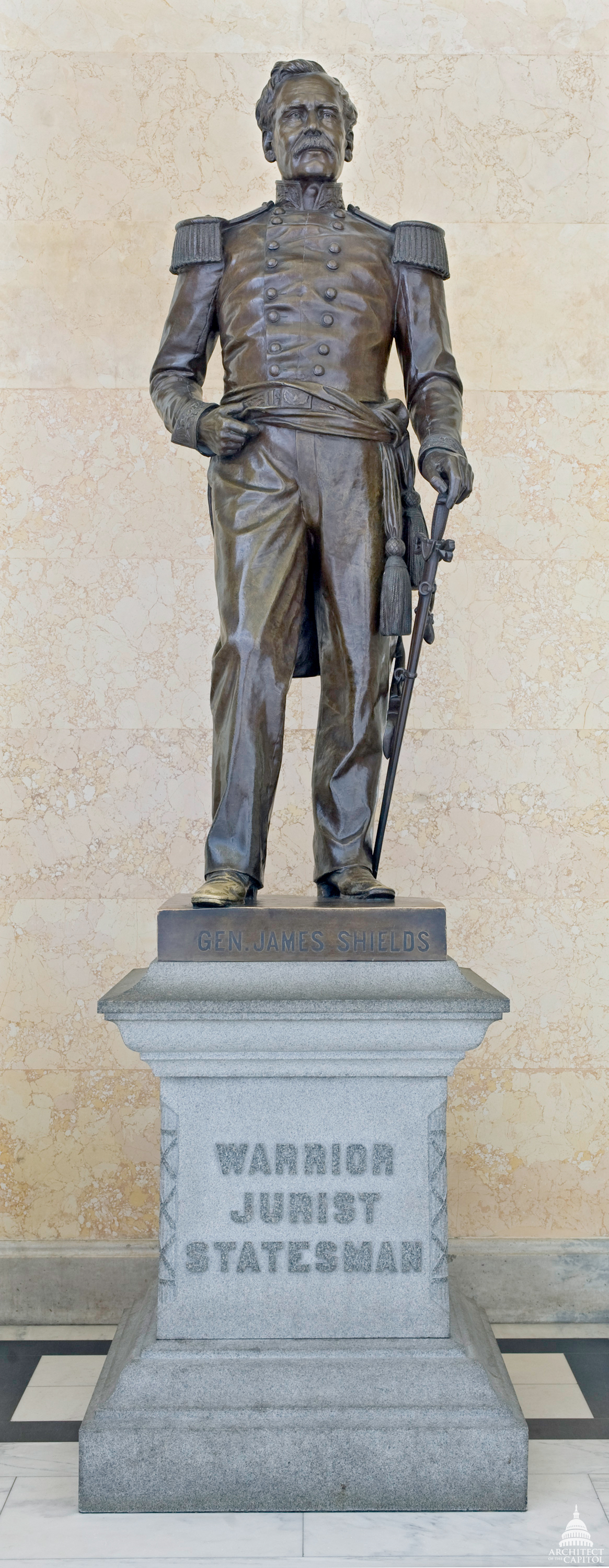 This statue of James Shields was given to the National Statuary Hall Collection by Illinois in 1893.