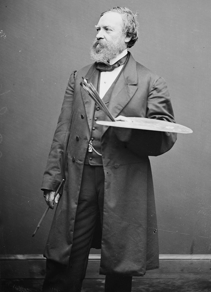 Portrait of Constantine Brumidi, artist of the U.S. Capitol.