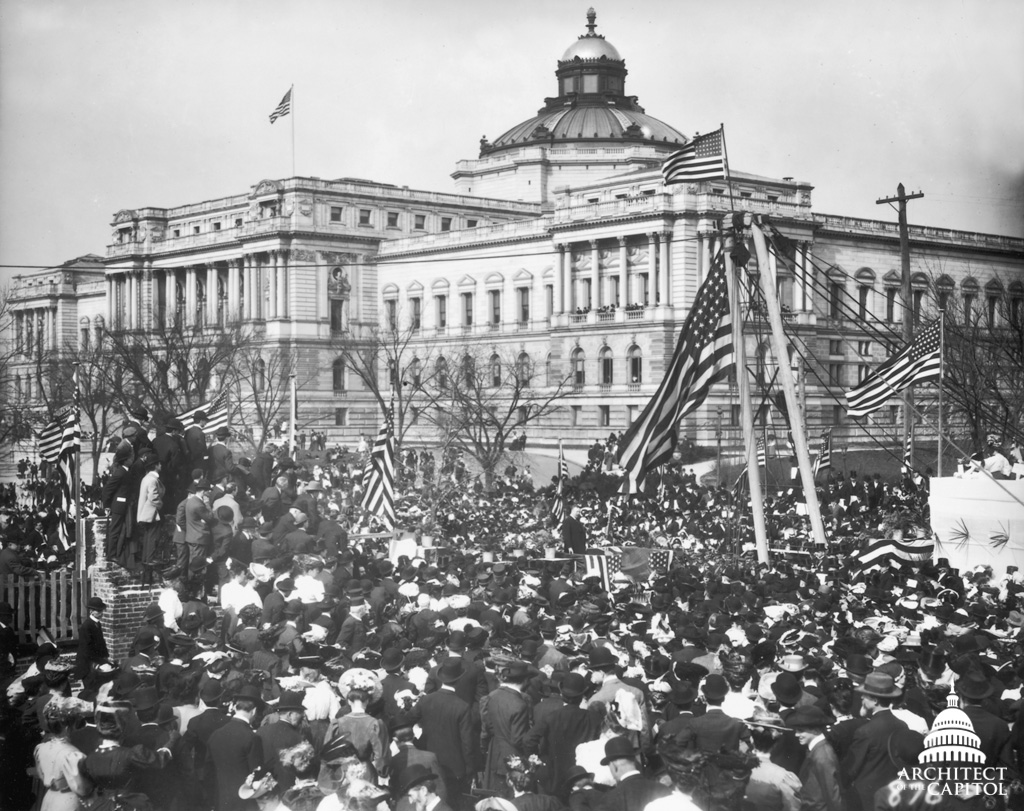 Cornerstone ceremony for the Cannon House Office Building, 1906.