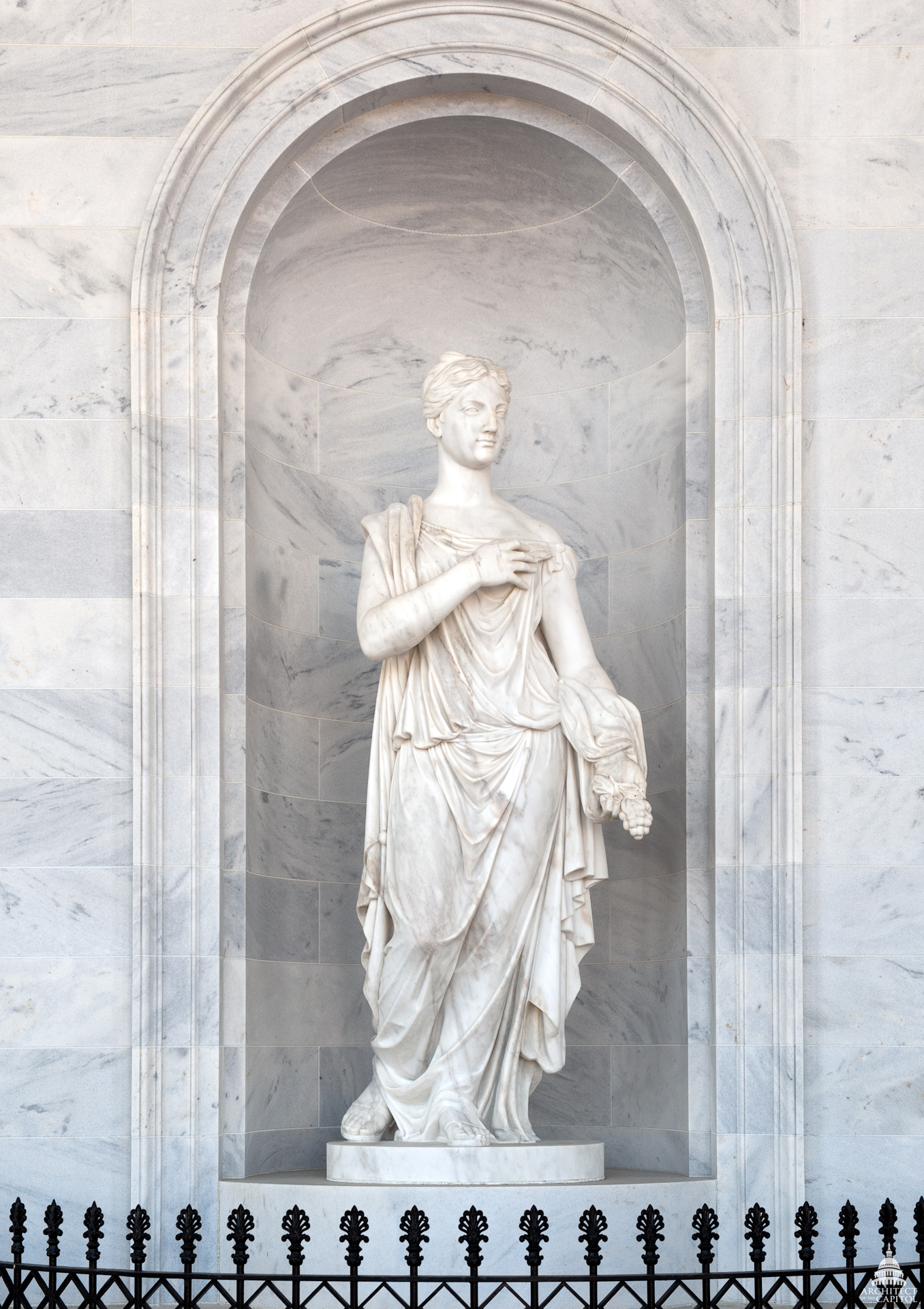 "Marble allegorical statue ""Peace."""