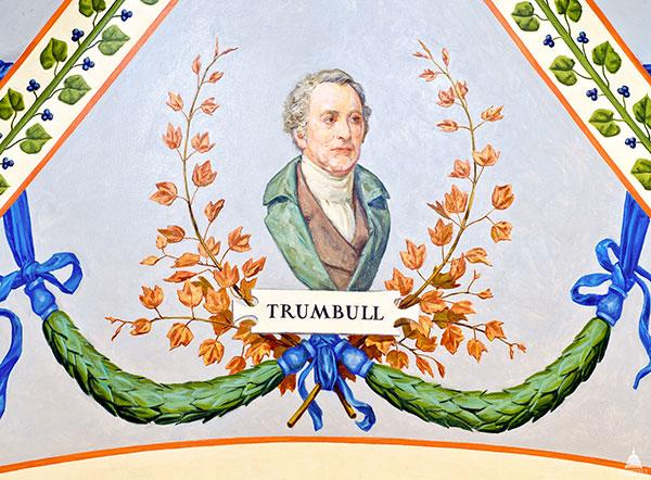 Artist John Trumbull portrait in the U.S. Capitol's Cox Corridors.