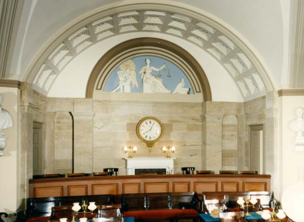 The Old Supreme Court Chamber clock in the U.S. Capitol.
