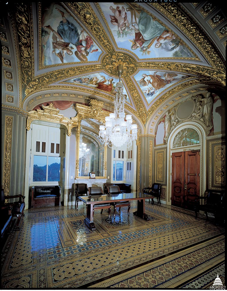 The U.S. Capitol's Senate Reception Room.