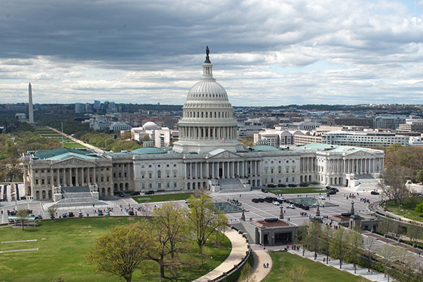 View from the east of the U.S. Capitol in Washington, D.C.