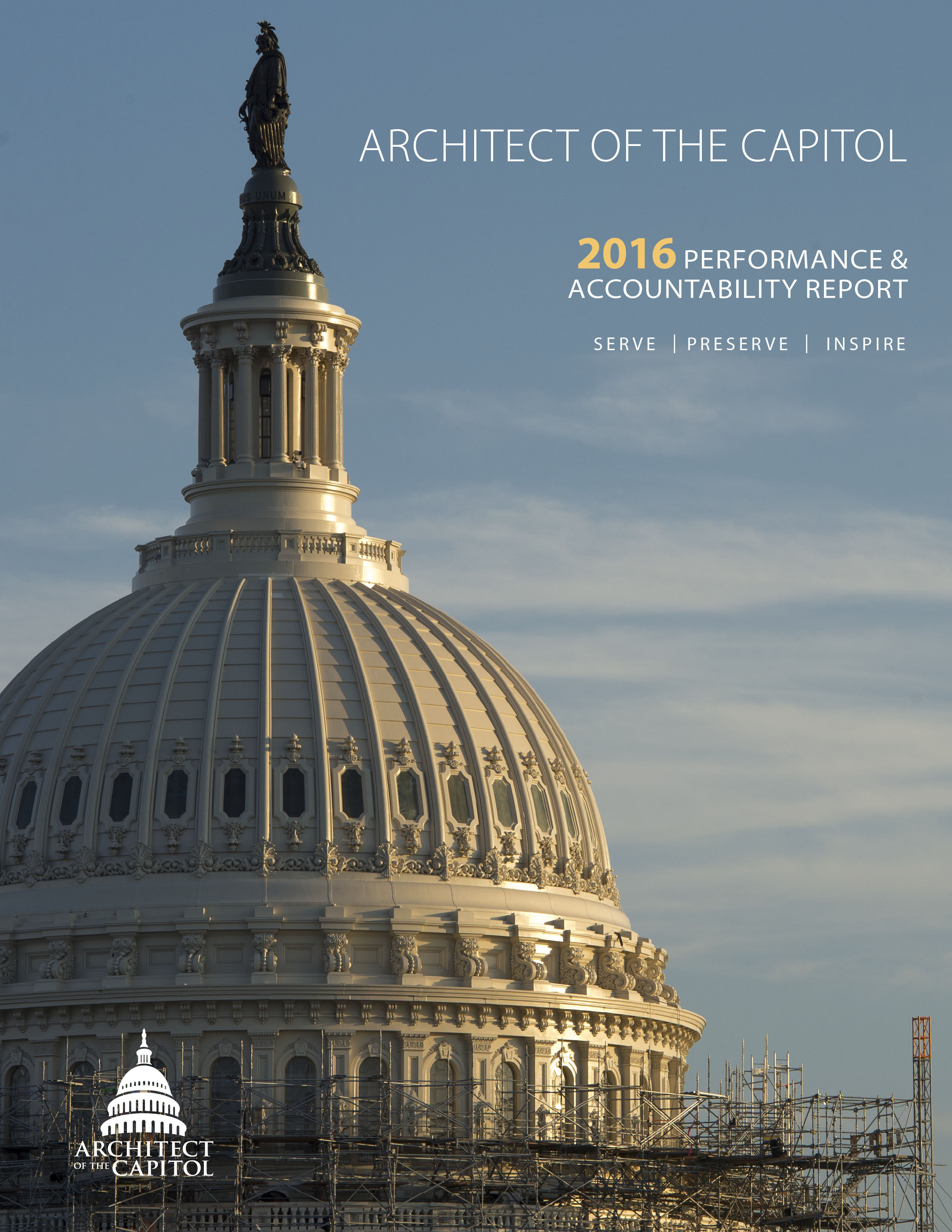 FY 2016 Performance and Accountability Report Cover