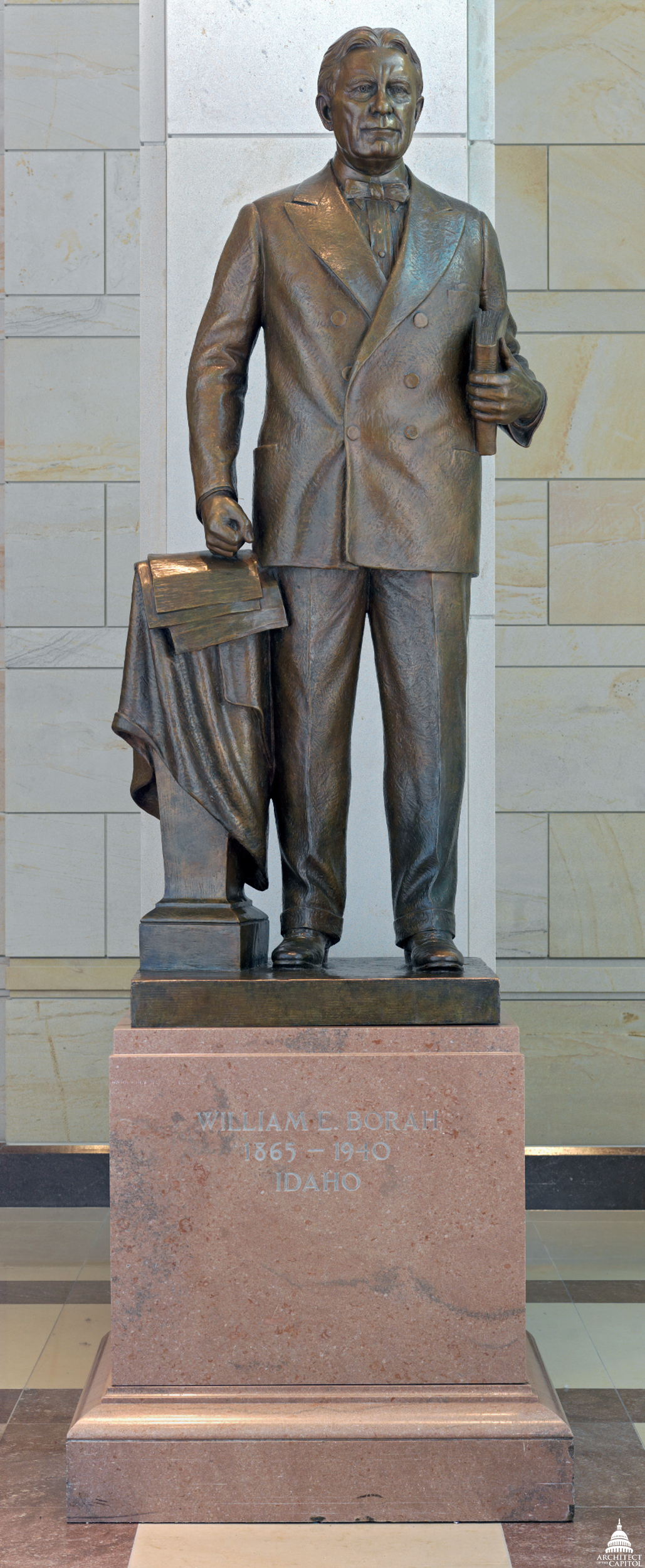 This statue of Senator William Edgar Borah was given to the National Statuary Hall Collection by Idaho in 1947.