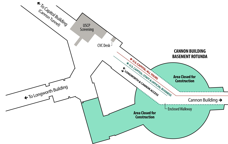 Cannon Basement Rotunda Map