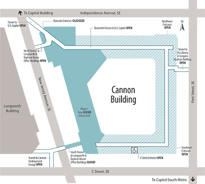 Cannon House Office Building Renewal Project Map