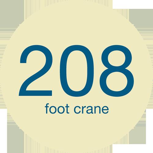 208 foot crane