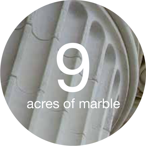9 acres of marble