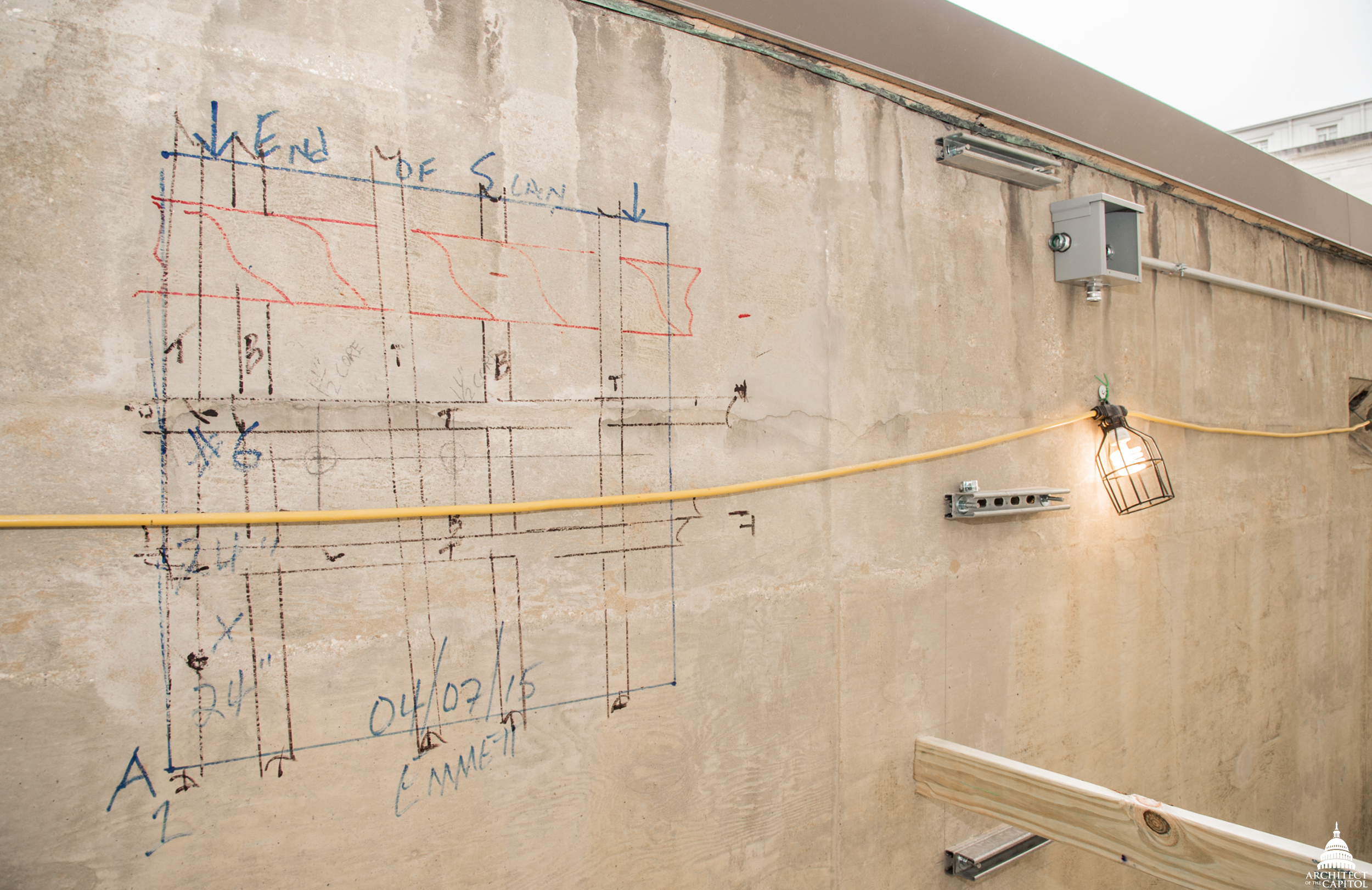 GPR drawing on wall.