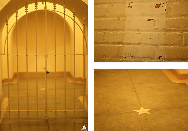 Area in the U.S. Capitol proposed for George Washington's tomb.