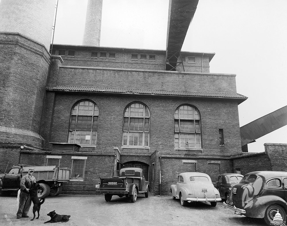 A historic view of the Capitol Power Plant.