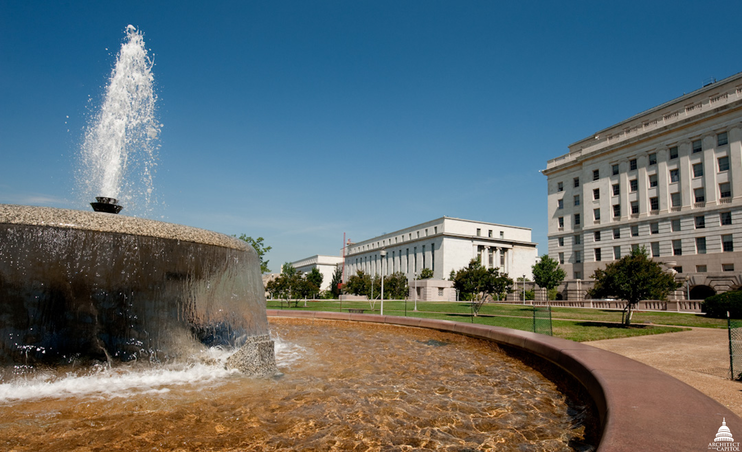 House Office Building garage fountain.
