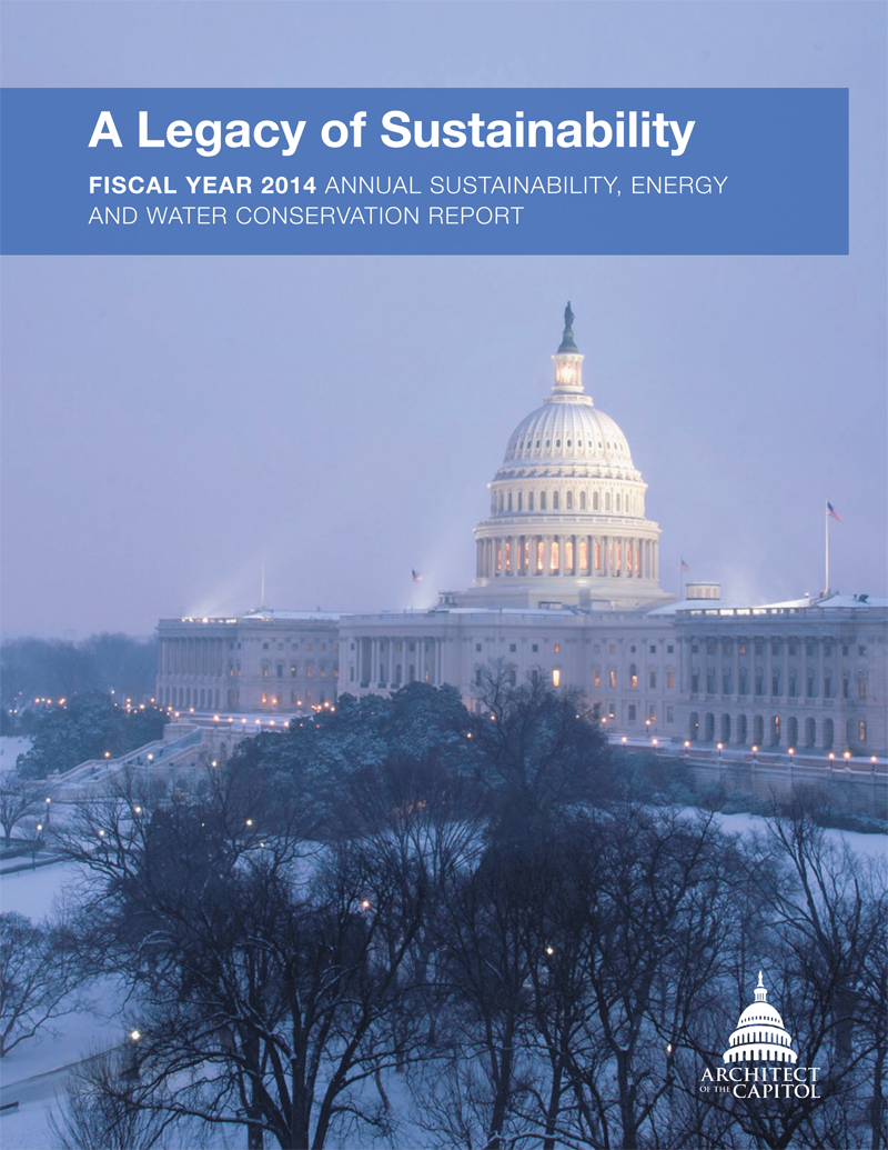 Sustainability, Energy and Water Conservation report cover.