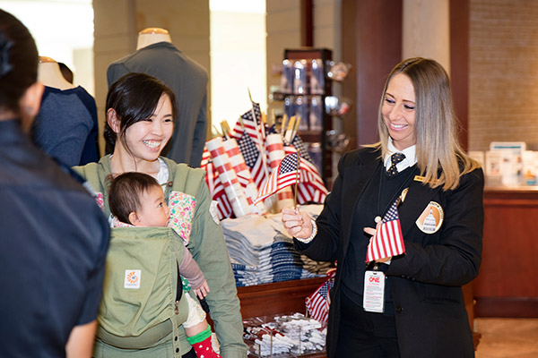 Merchandise sold at the U.S. Capitol Visitor Center gift shops is made in the USA.
