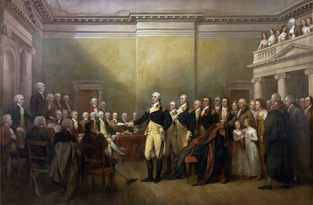 General George Washington Resigning His Commission | Architect Of