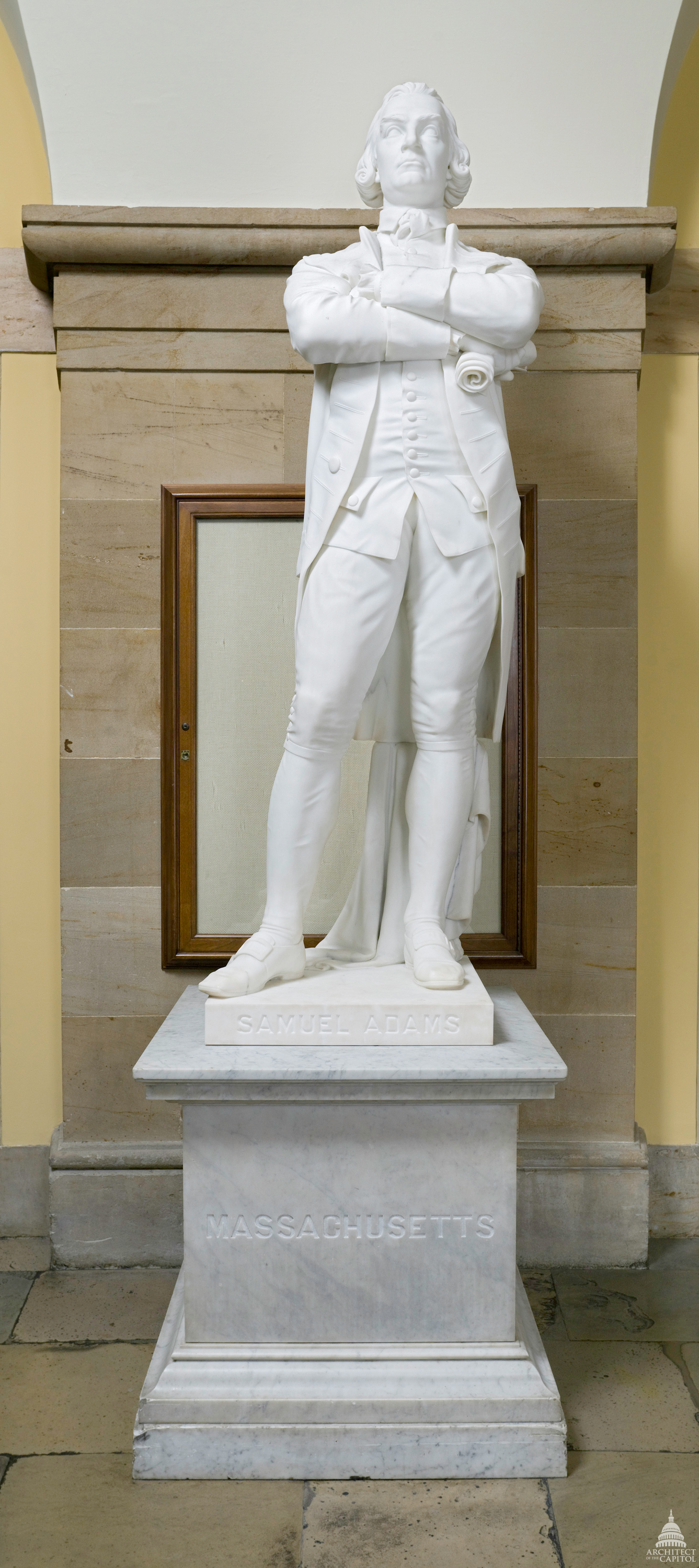 Statue of Samuel Adams, representing Massachusetts in the U.S. Capitol's National Statuary Hall Collection.
