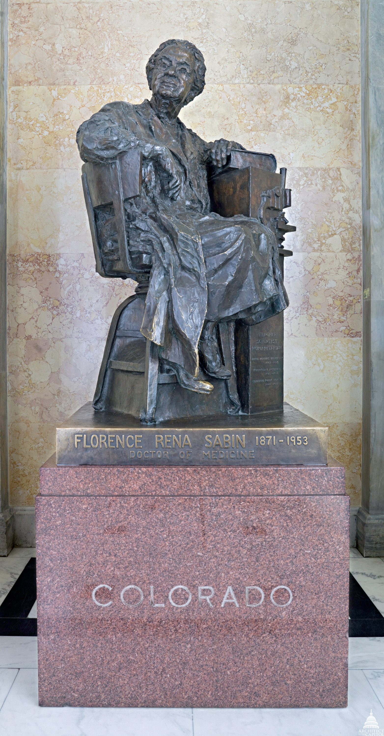 Statue of Florence Sabin, representing Colorado in the U.S. Capitol's National Statuary Hall Collection.
