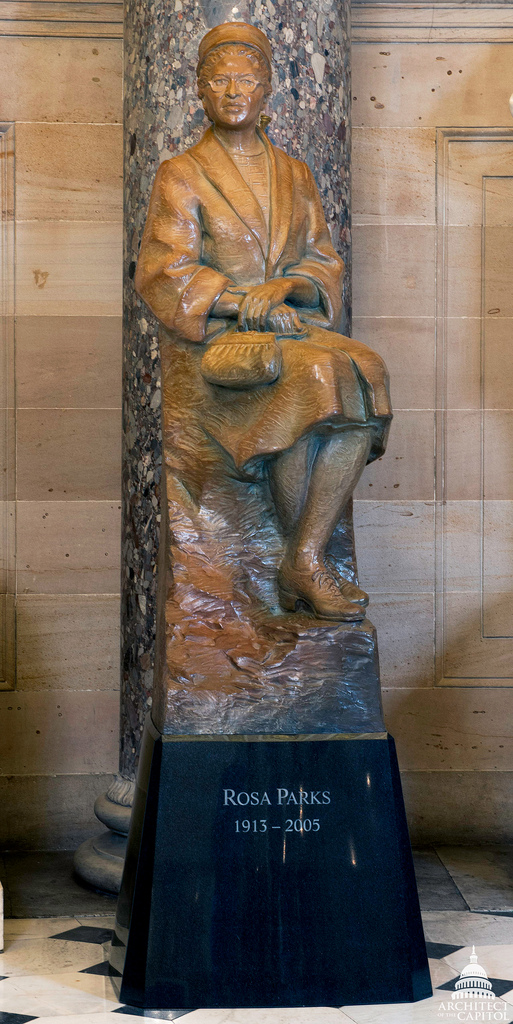 Rosa Parks statue in the U.S. Capitol's National Statuary Hall.