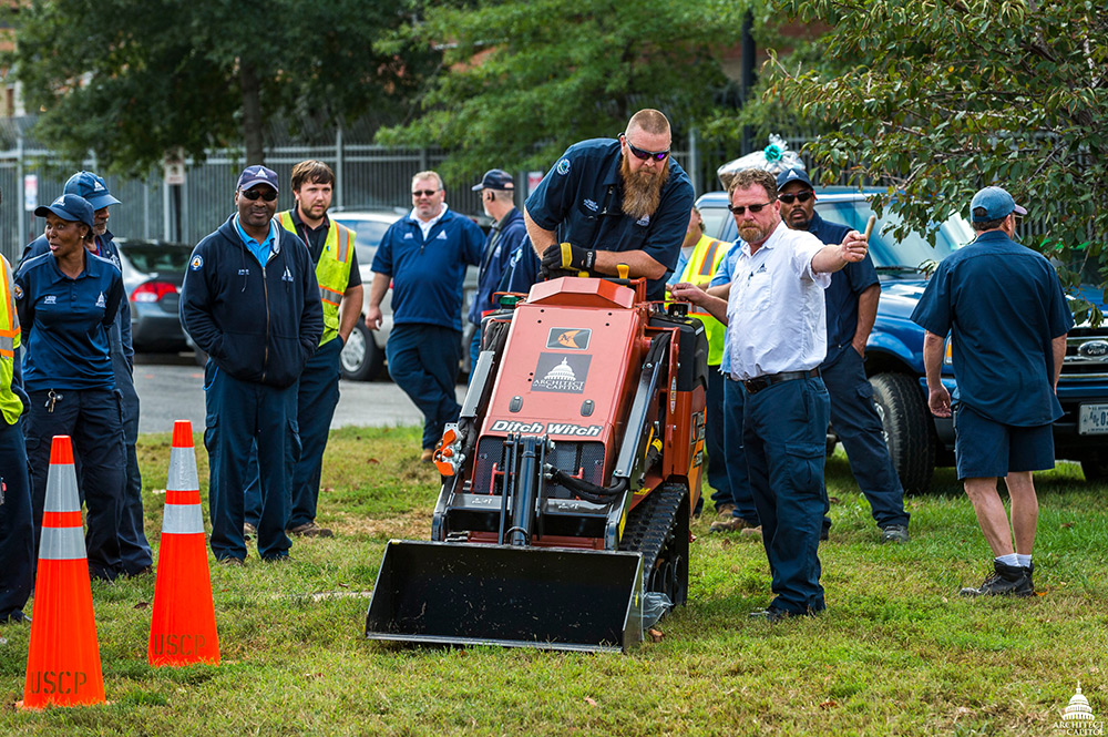 The Snow Rodeo training exercise on a new piece of snow removal equipment, the Ditch Witch SK600 mini skid steer
