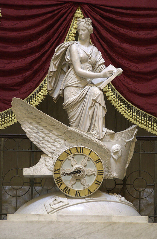 The Car of History clock in National Statuary Hall.