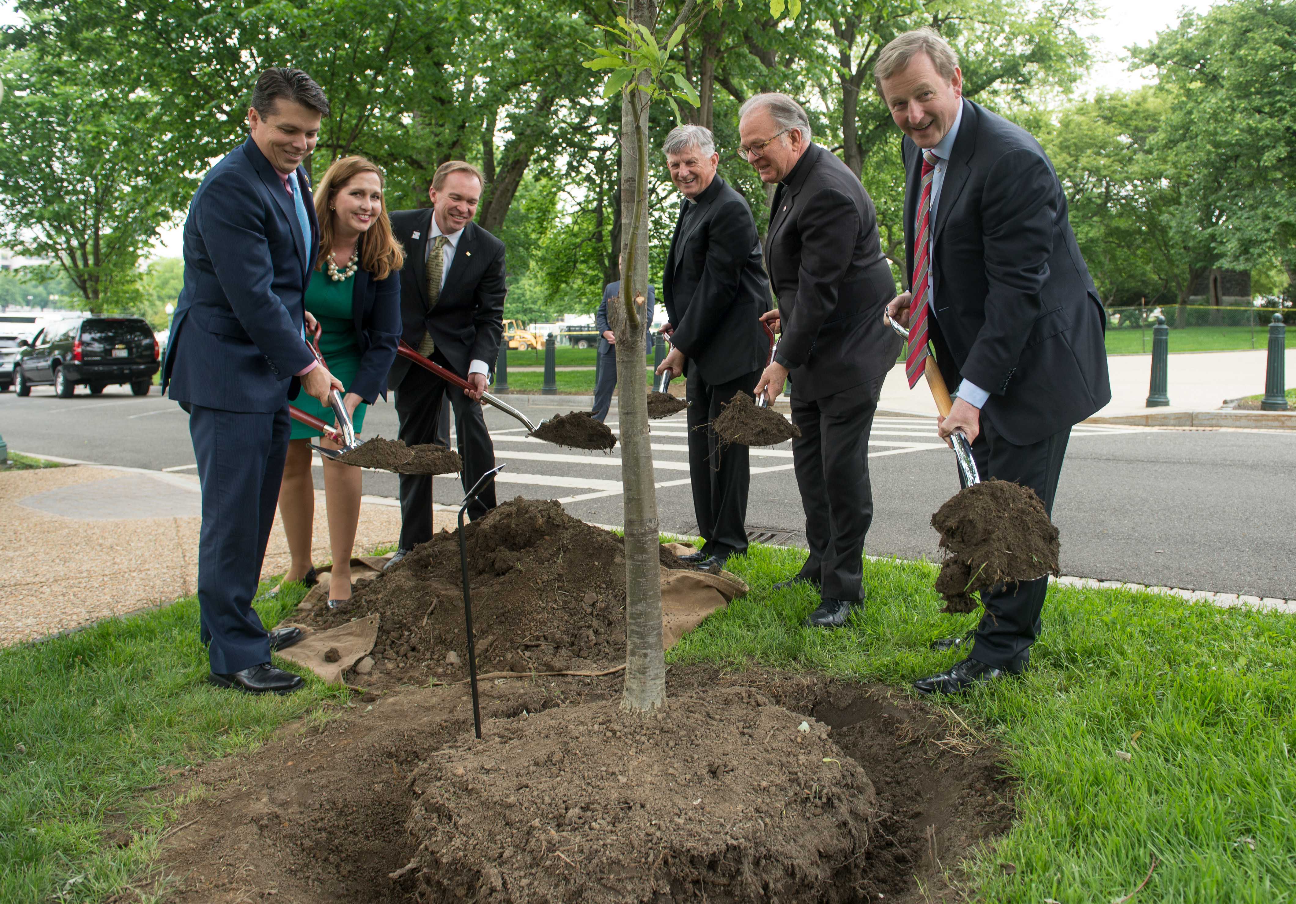 TREE PLANTING TO HONOR IRELAND ON THE CAPITOL GROUNDS FOR THE 100TH ANNIVERSARY OF THE EASTER RISING.