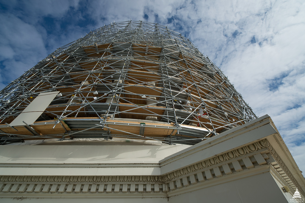 Dome scaffolding photo.