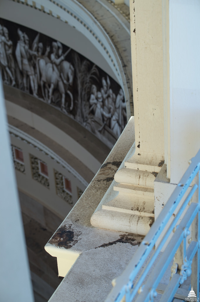 Photo of damage to be restored.