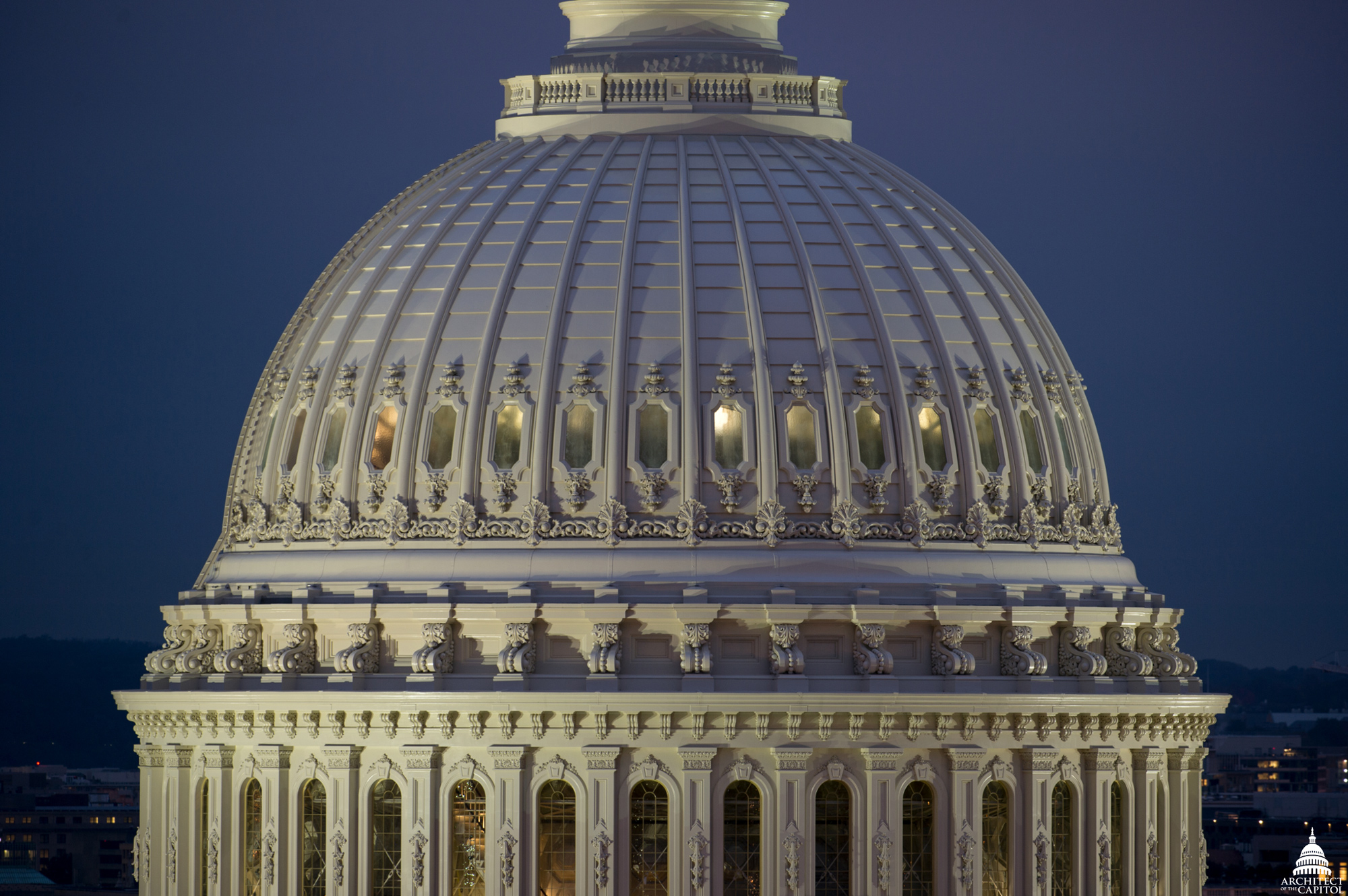 The restored Capitol Dome.