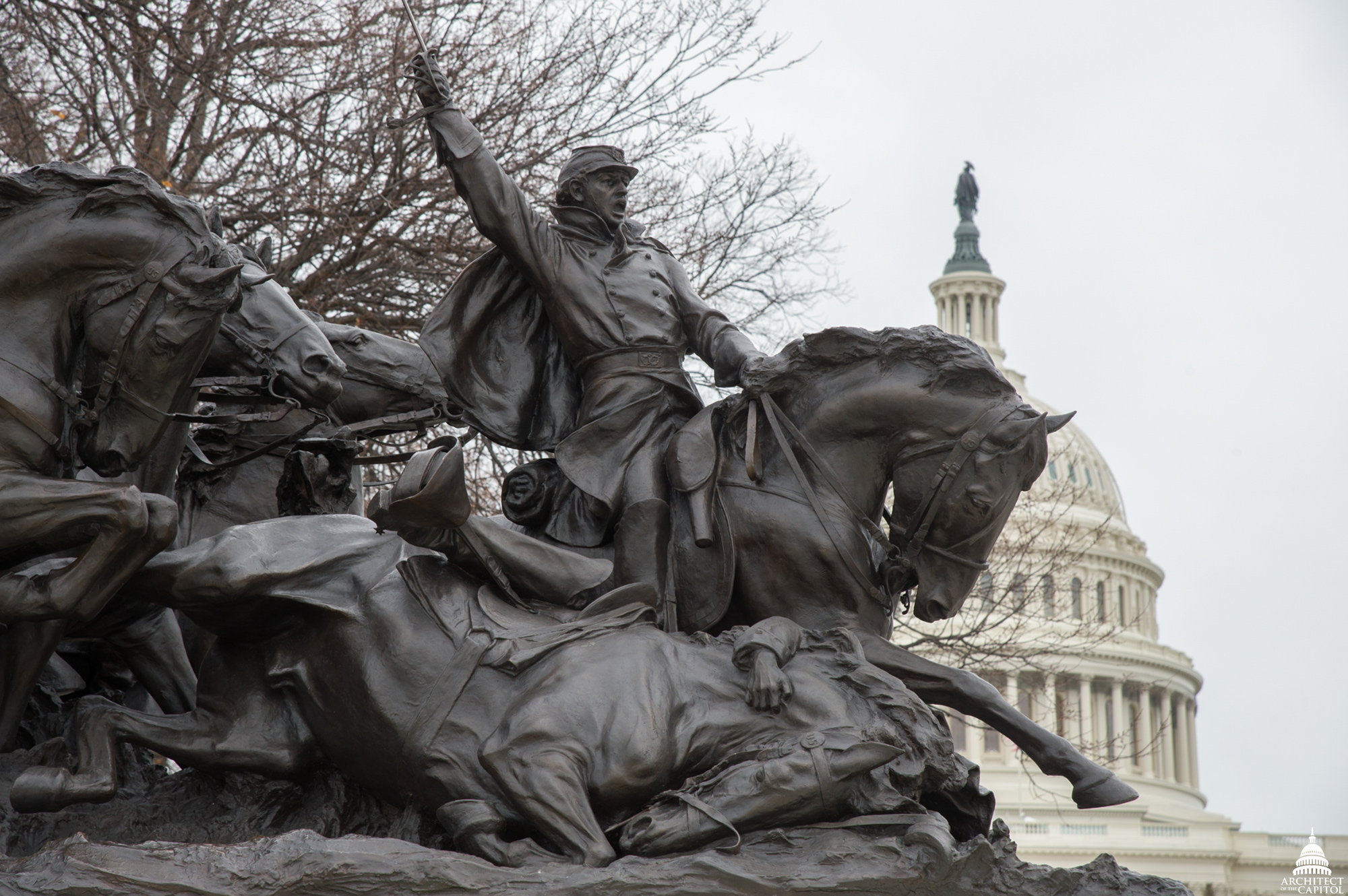 ulysses s grant memorial architect of the capitol united restored bronze of the grant memorial