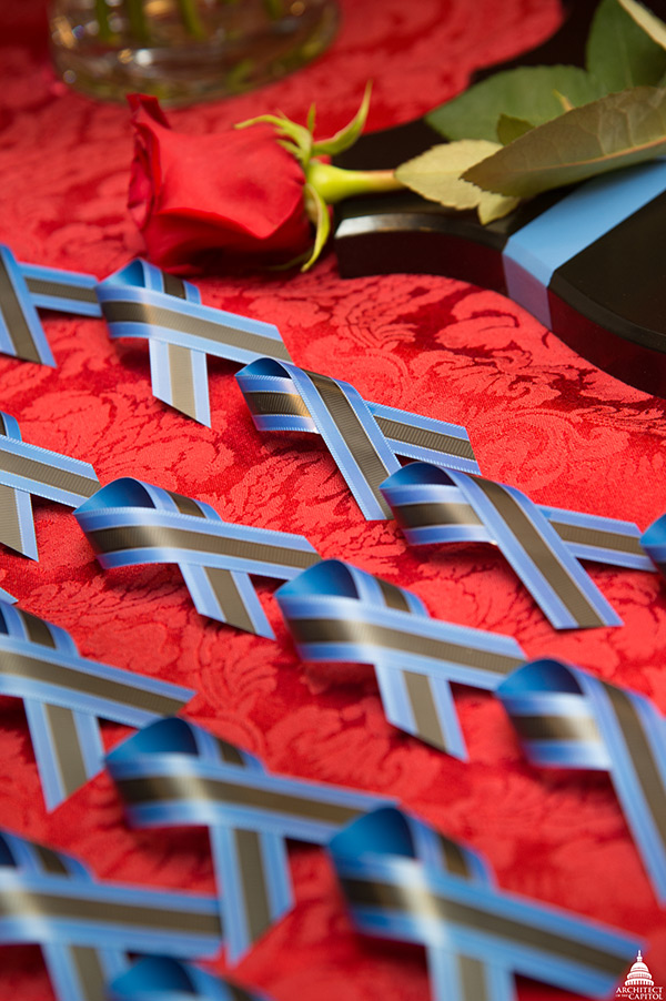 Ribbons displayed at the Annual National Peace Officers Memorial Service.