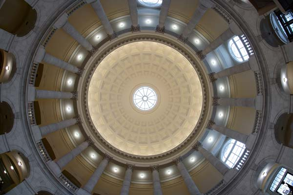 The Cannon House Office Building rotunda in 2018 after Phase 1 of the renewal project.